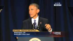 OBAMA AT PRAYER BREAKFAST