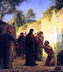 JESUS HEALS THE BLIND - CARL HEINRICH BLOCH