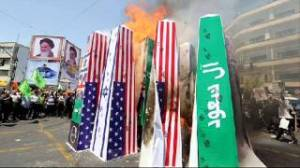 IRAN BURNS US FLAG