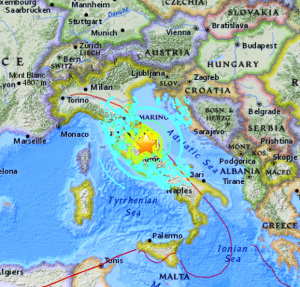 Central Italy Earthquake Bible Prophecy - Italy earthquake map