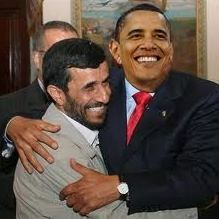 OBAMA HUGGING AHMADINEJAD