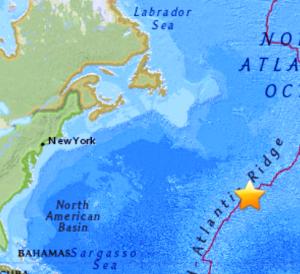 6 0 Major Earthquake Hits Northern Mid Atlantic Ridge Nowprophecy