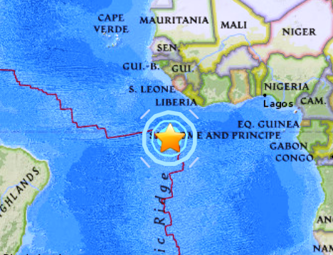 Major Earthquakes Hit Ascension Island Region 67 and Fiji Islands