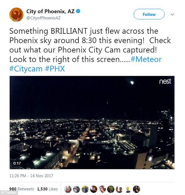 CITY OF PHOENIX TWEET