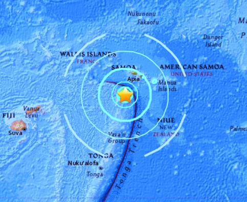 SAMOA ISLANDS - 11-4-17