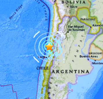 63 major earthquake hits near coast of central chile nowprophecy map usgs a major 63 magnitude earthquake gumiabroncs Gallery