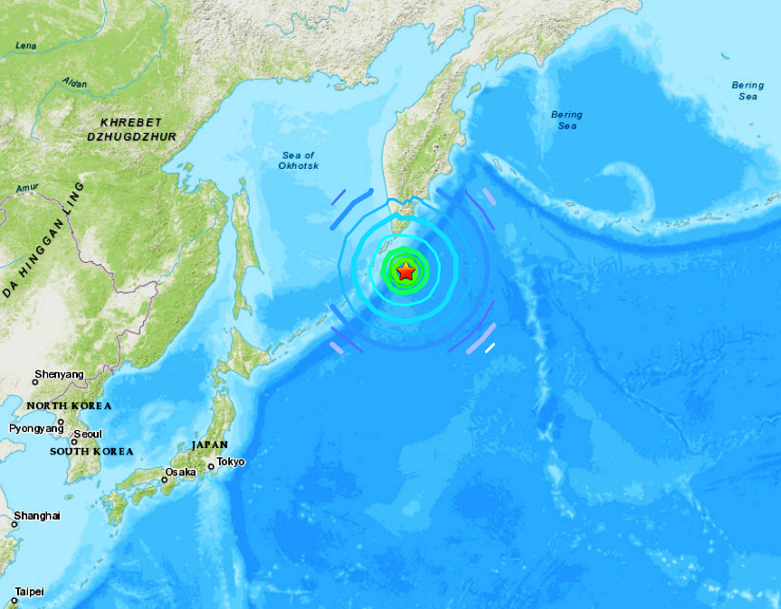 EAST OF KURIL ISLANDS - 3-25-20