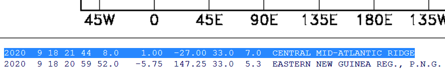1 CENTRAL MID-ATLANTIC RIDGE - 9-18-20
