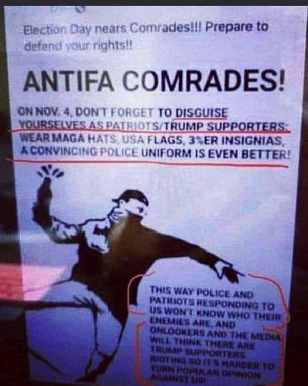 ANTIFA FALSE FLAG