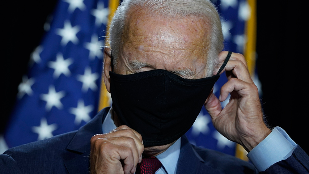 JOE BIDEN MASK BLINDED