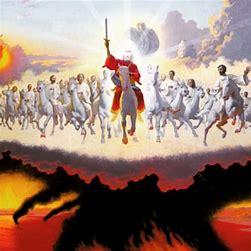 JESUS RETURNS WITH SAINTS