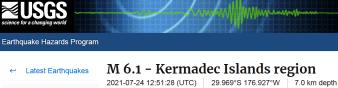 2 KERMADEC ISLANDS - 7-24-21