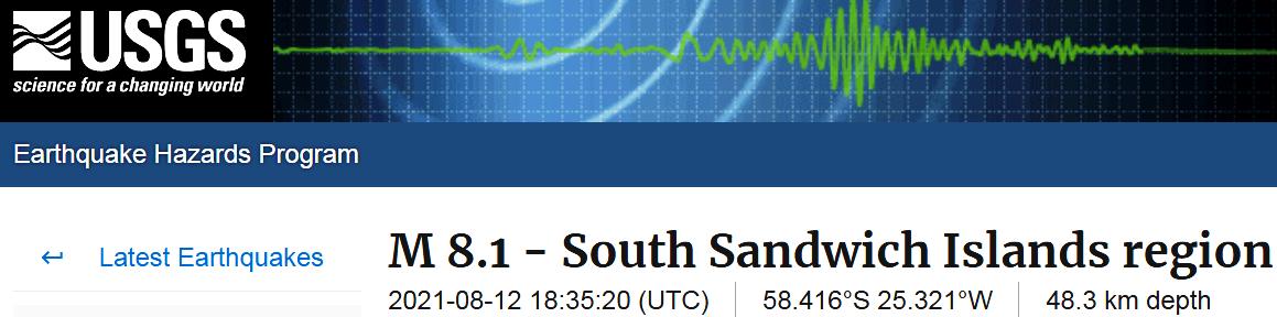 0 SOUTH SANDWICH ISLANDS - 8-12-21