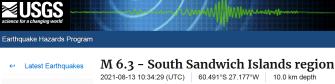 1 SOUTH SANDWICH ISLANDS 8-13-21
