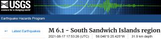 1 SOUTH SANDWICH ISLANDS - 8-17-21
