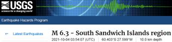 1 SOUTH SANDWICH ISLANDS -10-4-21